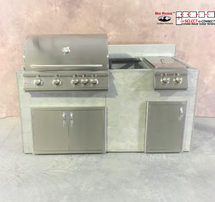 R-71GDDODDDBLBS RTF SNC Grill, Double Doors, Single Door And Side Burner With Back Splash