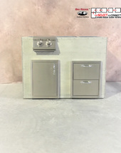 R-48DDSDBBL RTF SNC Double Drawers, Single Door & Burner