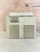 R-48DDSDBBLSBC RTF SNC Double Drawers, Single Door & Burner with Split Bar Counter