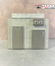 R-48TSDBBLBS RTF SNC Trash Single Door & Burner with Back Splash