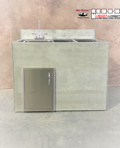 R-48SDSBLBS RTF SNC Single Door & Sink with Back Splash