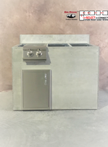 R-48SDBBLBS RTF SNC Single Door and Burner with Back Splash