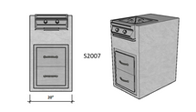 """Ready To Finish SNC 20"""" Standard Module With Pro Power Burner and Double Drawer"""
