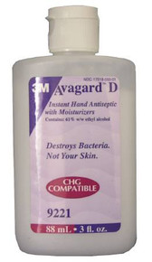 3M 9221. Case of 48. Avagard D Instant Hand Antiseptic with Moisturizers 3 fl. oz. CASE/48