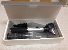 HEINE D-001.70.120 Mini 3000 XHL Fiber Optic Otoscope with mini 3000 battery Handle w/ reusable & disposable tips