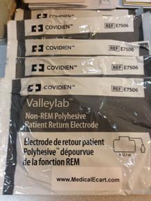 Valleylab, E7506, Adult, Non-REM, PolyHesive, Patient, Return, Electrode, Covidien, COVE7506, E7506A, 1944455, 209556 E7506- POLYHESIVE NON REM RET EL X50