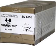 SG635G SUTURE 4-0 GUT CHR C-13, Box of 12