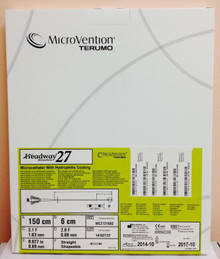 Microvention Terumo MC272150S Headway27 Microcatheter with Hydrophilic Coating,  Straight / Shapeable 150cm / 6 cm
