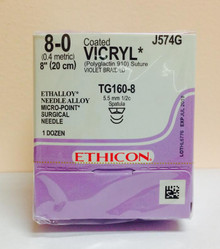 Ethicon, J574G, Coated, VICRYL, Suture, MICROPOINT