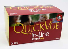 00343 QuickVue In-Line Strep A test, Box of 25 tests. Price per box