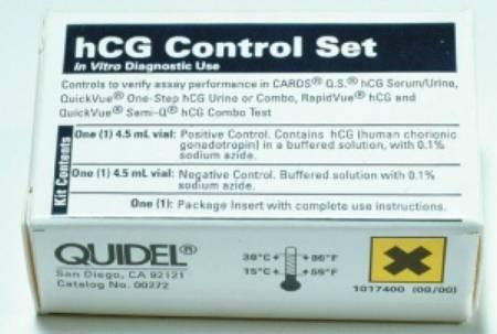 00272 Urine Hcg Control Set Quickvue One Step Pregnancy Hcg