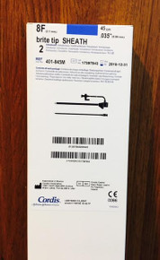 Cordis 401-845M Brite Tip Sheath Introducers 8Fr x 45cm