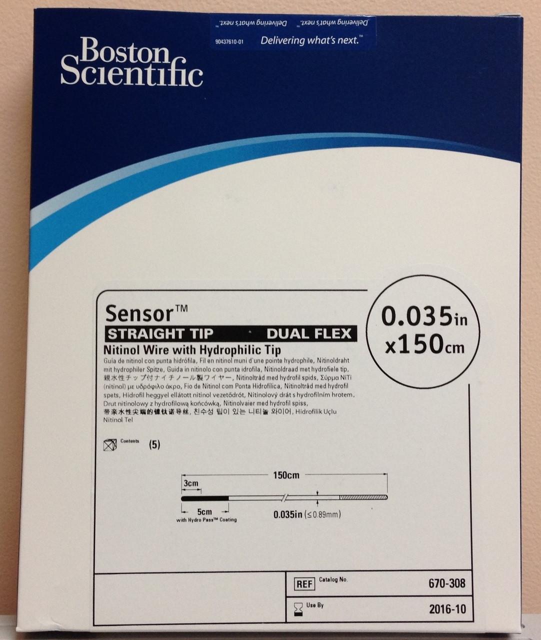 "Boston scientific, 670-305, 0. 035"", boston scientific sensor."