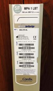 """Cordis 5562700L, Long Vista brite tip, 556-270-0L Guiding Catheter 5F (1.65mm) MPA 1LBT (100cm .056"""" I.D.)"""