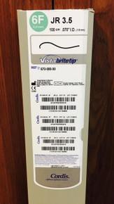 """Cordis 67008000, VISTA BRITE TIP, 670-080-00 Guiding Catheter 6Fr JR 3.5, 100cm x .070"""" I.D. (1.8mm)"""