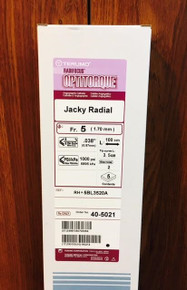 40-5021 Terumo RH* 5BL3520A Catheter Jacky Radial 5Fr.