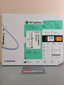 Medtronic NCEUP3015X NC Euphora™ Noncompliant Balloon Dilatation Catheter 3.0 mm x 15 mm, Box of 01