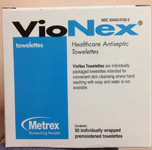 Metrex 10-1510 Sanitizing Skin Wipe VioNex® Individual Packet Chloroxylenol (PCMX) Scented 1 Count. Case/500