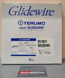 """GR3806 Terumo Glidewire ® RF*GA38153A Hydrophilic Coated Guidewire for Peripheral Application Standard, angle tip, .038"""" diameter, 150 cm long, 3 cm flexible tip length. Box of 5"""