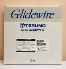 "GR3804 Glidewire ® Hydrophilic Coated Guidewire for Peripheral Application Standard, straight tip,   .038"" diameter, 260 cm long, 3 cm flexible tip length. Box of 5"