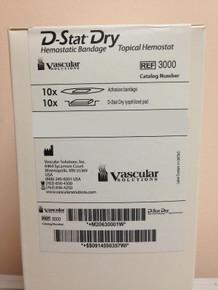 Vascular Solutions 3000 D-Stat Dry Silver Hemostatic Bandage