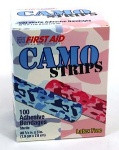 Camouflage Assorted Pink & Blue, Stat Strip®, 100/bx, 12 bx/cs, Adhesive bandages