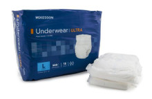 UWBLG Adult Absorbent Underwear McKesson Ultra Pull On Large Disposable Heavy Absorbency. Case/4
