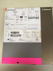 OPT780L-EXP Medtronic OPTIMUS OTW PTA Balloon Dilatation Catheter 7.0 X 80 X 135