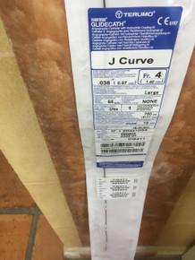 CG411-EXP TERUMO RADIFOCUS GLIDECATH J CURVE Fr.4 (1.40mm)