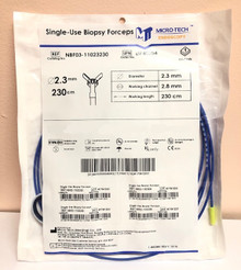 MICRO-TECH BF40096 Biopsy Forcep or 2.8mm Scope Channels, Standard, Forceps, Oval, Blue, 230cm, 2.8mm. 50/Box