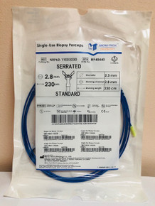 NBF63-11023230 Biopsy Forcep Micro-Tech Endoscopy Serrated With Spike Blue Serrated Sterile Not Made With Natural Rubber Latex Disposable,  10/Box
