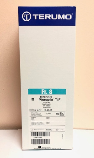 10-2534 TIF TIP - Pinnacle Sheaths for Coronary Applications TIF TIP - 10cm, 8 FR, 0.038 Wire. Box of 10