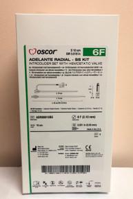 "OSCOR ASR06010B5 Adelante® Radial - SS Kit  Introducer Set with Hemostatic Valve 6F.,  10cm  x 0.021"". Box/5"