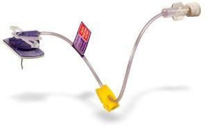 "SHW19-100Y PowerLoc ® EZ Power-Injectable Infusion Set, 19 Gauge x 1"""