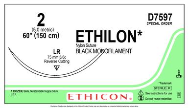 D7597 ETHILON Nylon Suture
