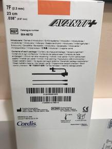 504-607D 7Fr. x 23cm Cordis  AVANTI  + Mid-Length Sheath Introducer,  Box of 5