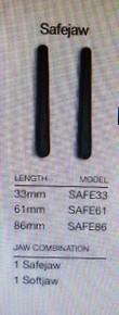 Edwards Lifesciences, SURGICAL CLAMP INSERT SET, Double Safejaw, FOGARTY ATRAUMATIC STRAIGHT 61MM, Box of 10 (SAFE61)