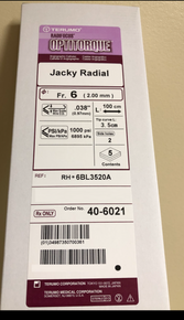 40-6021 TERUMO RH*6BL3520A Radifocus® Optitorque® - Angiographic Catheter 6Fr., Jacky Radial (Curve Size 3.5)