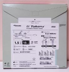 TERUMO DC-RY1515UA1 RX Takeru PTCA Ballon Dilatation Catheter, Diameter 1.5mm, Lenght 15mm