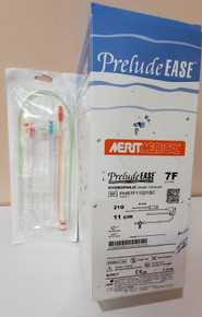 Merit PHR7F11021SC, Prelude EASE™, Hydrophilic Sheath Introducer, 7Fr, Lenght 11cm, Needle 21G x 4cm Advance, Guide Wire spring; straight floppy tip, Box of 5