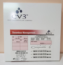 EV3 41054-01, Thrombus Management , Cragg-McNamara valved infusion catheter, 5Fr Diameter, 100 lenght, 0.038in=097mm guidewire
