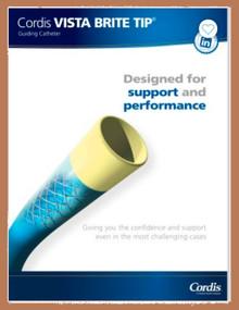 Cordis 67006700, VISTA BRITE TIP®, XBLAD 3 2 SH PTFE Nylon Guiding Catheter, 100CM, 6FR, box of 1