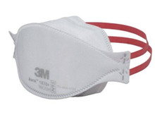 3M 1870+ Particulate Respirator / Surgical Mask Aura™ N95, Flat Fold Elastic Strap One Size Fits Most White NonSterile, case of 120 Product may be non-returnable or require additional restocking fees