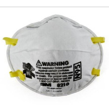 3M 8210 Particulate Respirator / Surgical Mask N95 Cup Elastic Strap One Size Fits Most White NonSterile case of 1603 Product may be non-returnable or require additional restocking fees
