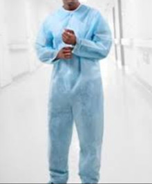 Tronex 640035B, Coverall, Open Cuff & Ankle, X-Large, Soft Blue Disposable, case of 5