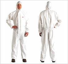 3M 4510-M, Coverall with Hood, Medium White Disposable, case of 20