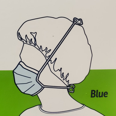 48201 Surgical Mask Pleated Tie Closure One Size Fits Most Blue NonSterile, case of 300 (6 bxs/50)