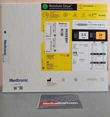Medtronic RONYX25026UX Resolute Onyx™ Drug-Eluting Stent 2.50mm x 26mm. Box of 01
