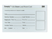 3M 67200 Comply™ Sterilizer Record Cards, case of 1000