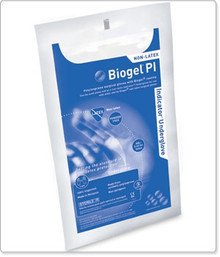 Molnlycke 41685, Underglove Biogel® PI Indicator Underglove™ Powder Free Polyisoprene Blue Size 8.5, box of 50 pairs